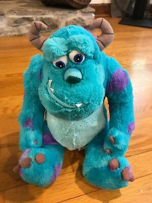 sully from monsters inc stuffed plush doll blue disney store