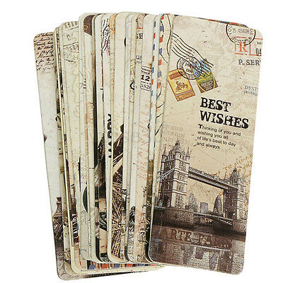 30pcs Paris Eiffel Tower Vintage Retro Paper Book Mark Bookmark Book Label AD