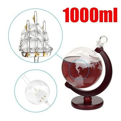 Glass GLOBE DECANTER Vodka Whisky Scotch Tequila 1000ml Ideal Christmas Present