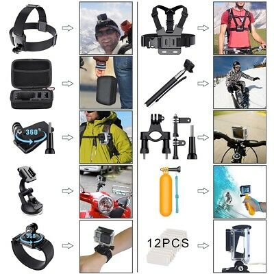 For GoPro Hero 6 5 4 3 2 1 Accessories Kit Camera Mount Strap Sport Set with Box