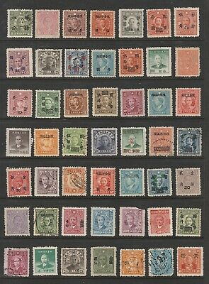 China stamps, small collection x 49(sh1121), mint & used, overprint, unsorted