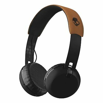 Skullcandy Grind Bluetooth Wireless On-Ear Headphone with Built-In Mic Black/Tan