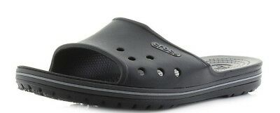 f1a2bf982918 Croc Crocband II Slide Black Graphite Grey Sporty Slider Sandal Mens 9  Womens 11