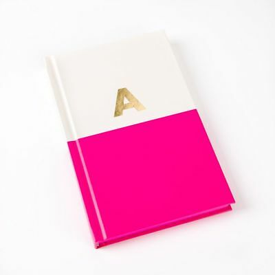"Kate Spade New York Dipped Initial Notebook - ""A"" Fuchsia Pink"