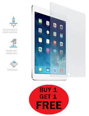 """100% Genuine Tempered Glass Screen Protector For iPad 9.7"""" 2017 BUY 1 GET 1 FREE"""