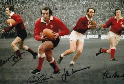 THE WELSH RUGBY UNION LEGENDS JPR WILLIAMS PRE-PRINT 12x8 INCH LAB PRINTED PHOTO