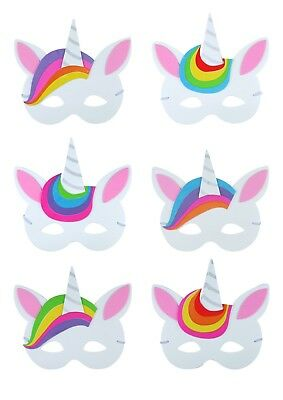 Foam Unicorn Masks - Pinata Toy Loot/Party Bag Fillers Wedding/Kids