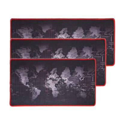 Portable World Map Gaming Computer Mouse Pad Large Desk Pad Non-slip Rubber