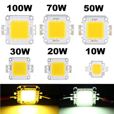 10W 50W 100W LED Lamp Light COB SMD Bulb Chip 20W 30W 70W High Power DIY 12-36V