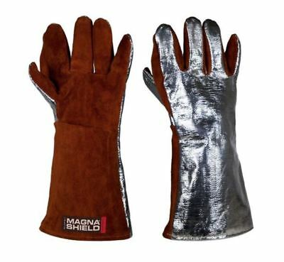 1Pr MagnaShield Aluminised Preox Gloves-Pyrocore Leather Palm APG16WSP