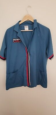 Vintage 90's Wal Mart Employee Sales Associate Work UnIform Top - Size Large