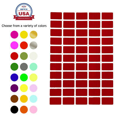 Rectangle Color Coding Labels 1 Inch x 0.625 Inch Removable writable Stickers