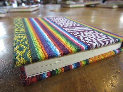 MUST CLEAR Bhutan Trad Fabric 30page NoteBook Handmade paper 9x11 cm RRP $5.00