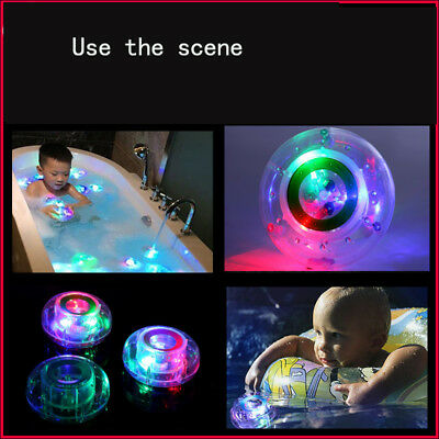 US Baby Children Bathing Toy Waterproof LED Light Color Changing Bathroom In Tub