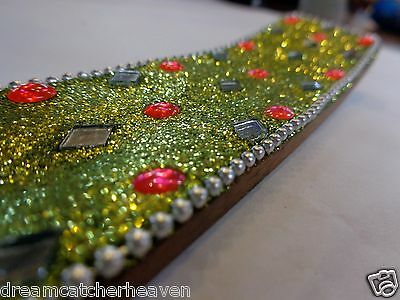 Beautiful Handmade Bright Colourful Sparkle Glitter Bling Incense Burner W/Sale