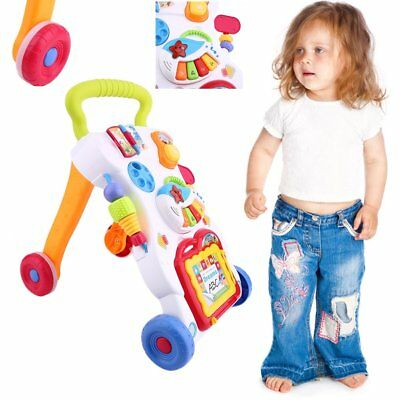 2 In 1 First Steps Baby Walker Sounds and Lights Fun Push Along Walker Andador