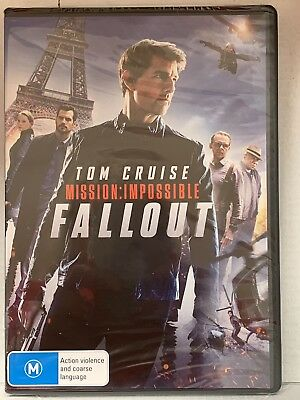 Mission Impossible 6 Fallout (2018, DVD) New Sealed Region 4