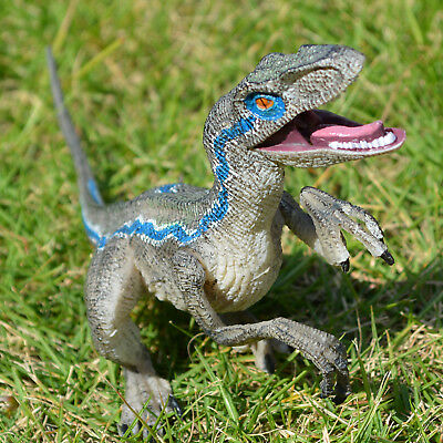 Jurassic Blue Raptor Dinosaur Velociraptor Toy Educational Model Birthday Gift