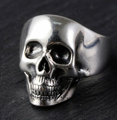 925 STERLING SILVER skull punk men's  RING  Rings Jewelry us size 8-11 S2676