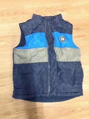 boys fleece lined navy sleeveless vest size 3 target brand GUC