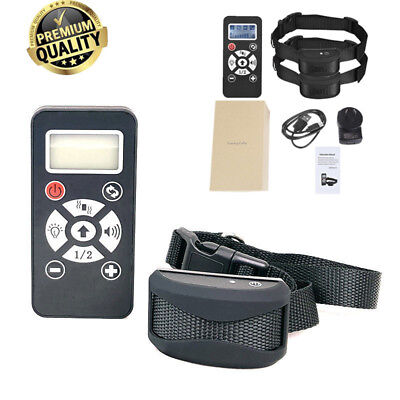 Remote & Auto Anti Bark Stop Barking Dog Training Collar Rechargeable