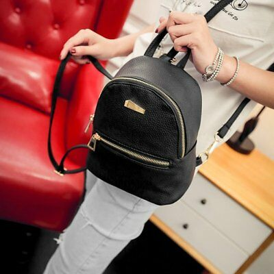 PU Leather Mini Zippered Backpack Casual Easy Matched Shoulder Bag for Women AZ