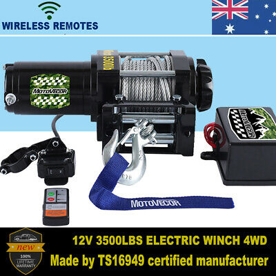 Electric Winch 12V ATV 4000-4500LBS Wireless Remote Steel Cable 4WD BOAT TRUCK