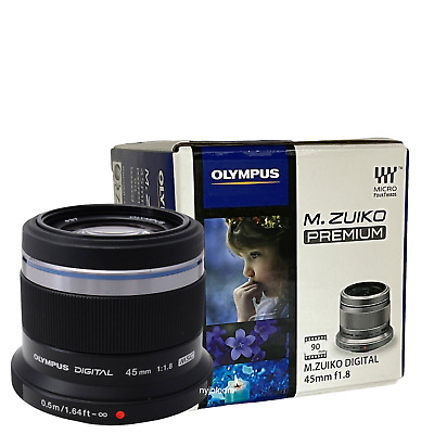 New OLYMPUS M. Zuiko Digital ED 45mm f/1.8 Lens - Black