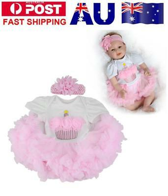 """2 piece set 22""""-23"""" Lifelike Reborn Doll Accessories Girl Doll Clothes Kids Toy"""