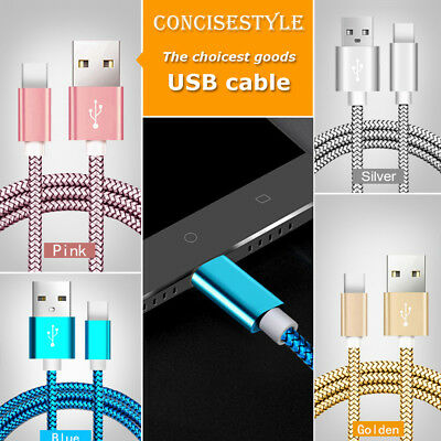 USB Lightning Data Nylon Charging Cable Cord Charger For Apple iPhone ipod ipad
