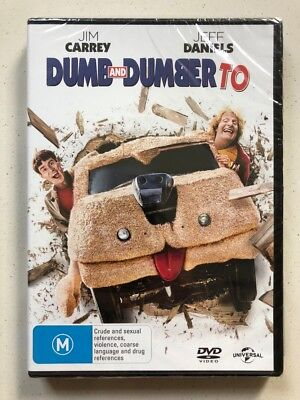 Dumb And Dumber To - Jim Carrey (DVD, 2015) Region 4- NEW & SEALED