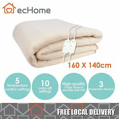 iNNOCARE Polar Fleece Heated Electric Blanket 160X140cm Double Size with 2 Timer