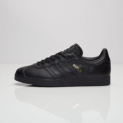 wholesale dealer 53635 6cb2a New Womens Adidas Originals Gazelle OG Black Gold Leather Trainers UK 5.5  BB5497
