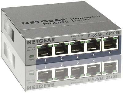 Netgear GS105E-200PES 5-Port Smart Managed Plus Gigabit Switch (Prosafe, bis 200