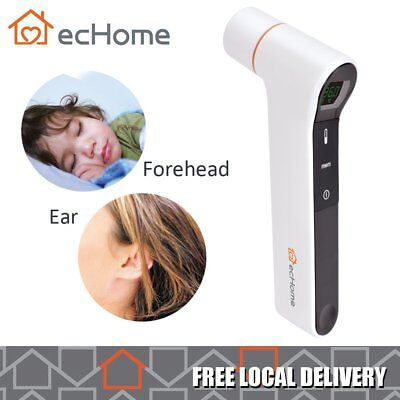 ecHome Digital Infrared Ear Thermometer w/ LED Display Screen Light Indicators