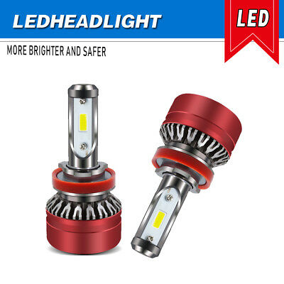 4-Side LED Headlight H8 H9 H11 6500K 6000LM Low Beam White Bulbs FOR BMW MAZDA
