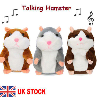 UK STOCK Cheeky Hamster Talking Mouse Pet Christmas Toys Speak Sound Record Gift