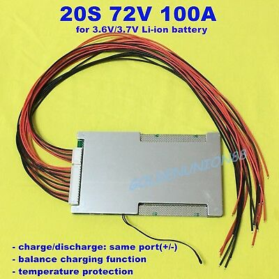 72V 20S 100A BMS PCM peak 200A PCB for 3.6V/3.7V  Li-ion battery escooter ebike