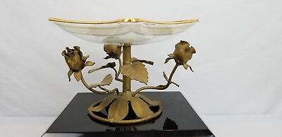 Italian Tole Toleware Candy Dish Hollywood Regency