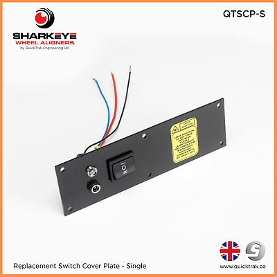 QuickTrak Wheel Alignment - Replacement Switch Cover Plate (Single)
