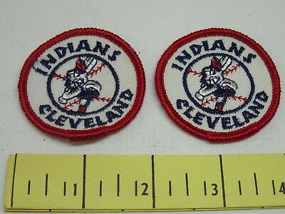 Cleveland Indians Vintage Patches 1970's Cloth 2 Inch New Old Stock