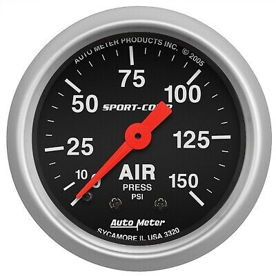 AutoMeter 3320 Sport-Comp Mechanical Air Pressure Gauge