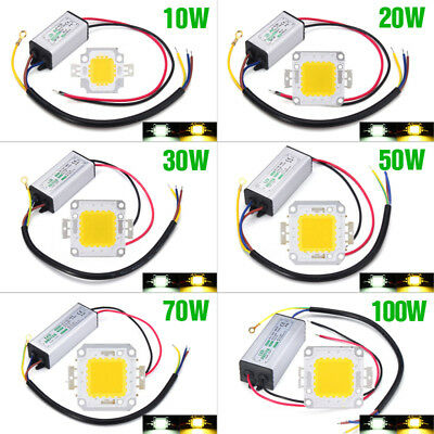LED Chip 10W 20W30W 50W70W 100W LED Driver Alimentazione SMD da impermeabile DIY