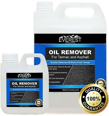 Everest Trade - Oil Stain Remover for Tarmac and Asphalt  (5 Litre and 1 Litre)