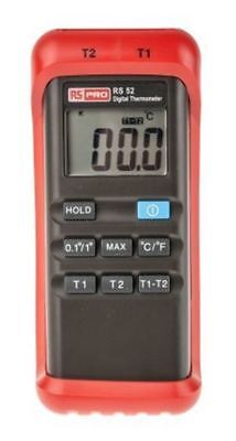 RS PRO Digital Thermometer, 2 Input Handheld, K Type Input No With RS Calibratio