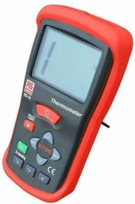 RS PRO RS41 Digital Thermometer, 1 Input Handheld, K Type Input With UKAS Calibr