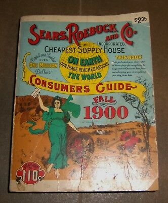 SEARS ROEBUCK CATALOG Fall 1900 Consumers Guide Products Clothes 1970 Reprint