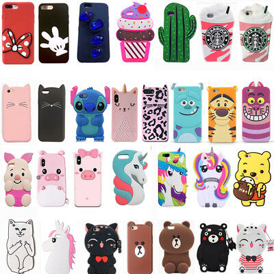 For Huawei P8 P9 P10 P20 Lite Honor 3D Hot Cartoon Soft Phone Case Cover Skin