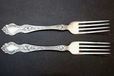 "Gorham 1890s Sterling  - Pair (2) 7 1/2""  Long Dinner Forks"