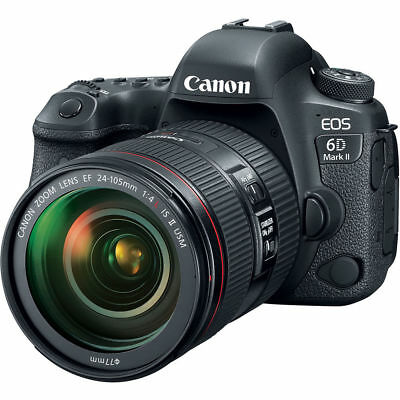 Canon EOS 6D Mark II DSLR Camera Kit with 24-105mm f/4 IS II USM Lens QQ